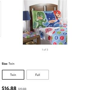 PJ Masks 3 piece twin sheet set